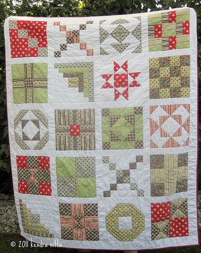 Simple Sampler Quilt-a-long Quilt, in Recipe for Friendship by Mary Engelbreit for Moda; pattern and quiltalong hosted by Amy Ellis