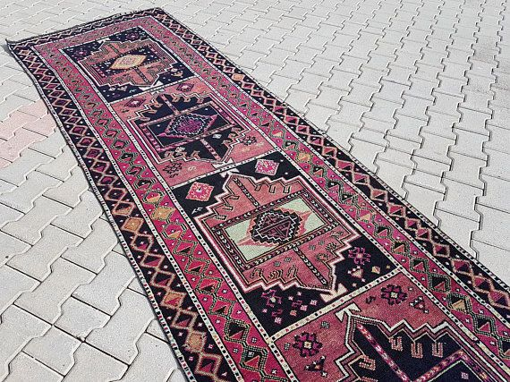 Extra Long And Wide Turkish Rug Runner Vintage Handwoven Pale Faded Color Hallway Carpet Staircase Carpet 3 5 X 16 10 104 X Rugs Turkish Rug Rug Runner