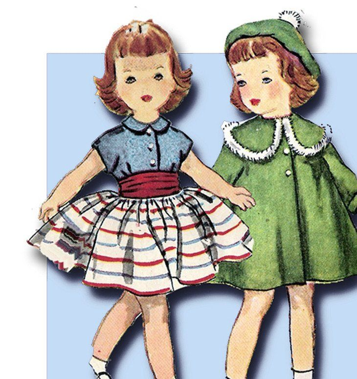 602 besten Vintage4me2 Doll Patterns Bilder auf Pinterest | 1950er ...