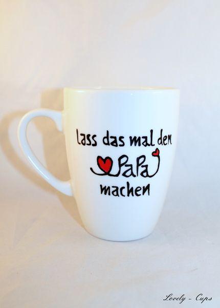 Tasse für Papa Geschenk Tasse mit Name, PAPA Tasse von Lovely-Cups auf DaWanda.com