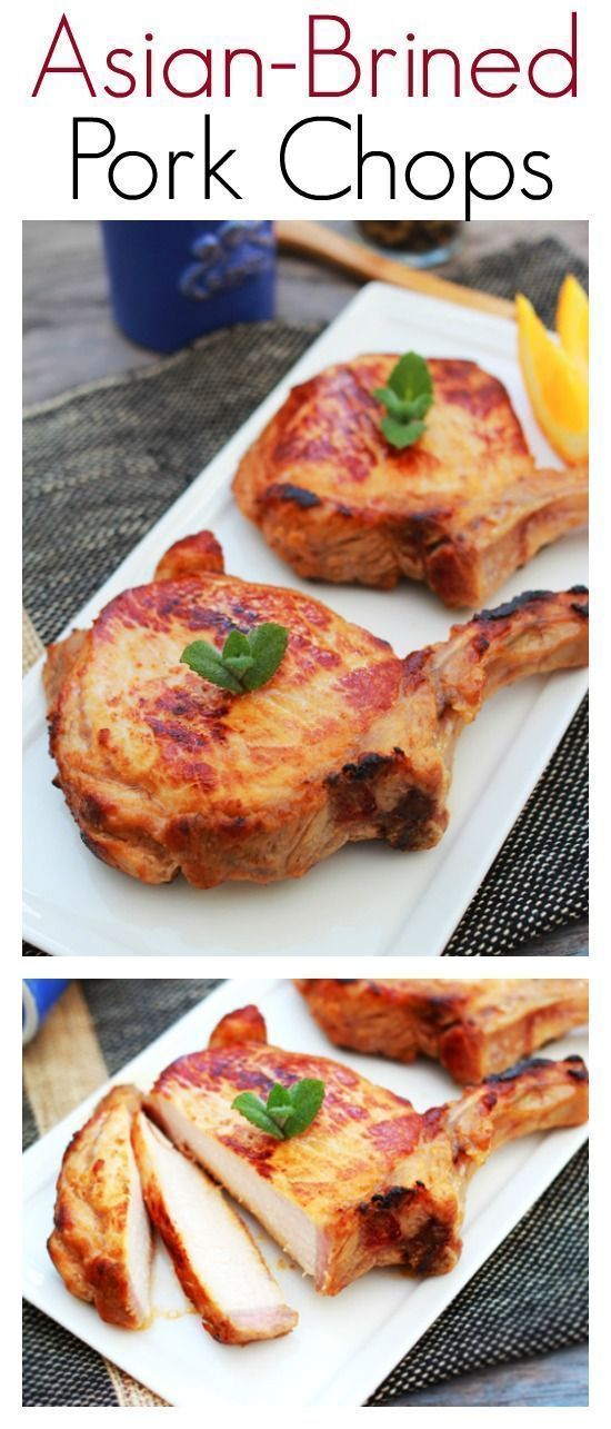 Asian-brined Pork Chops - flavorful and delicious Asian pork chops, so easy to make dinner is ready in 30 mins | http://rasamalaysia.com