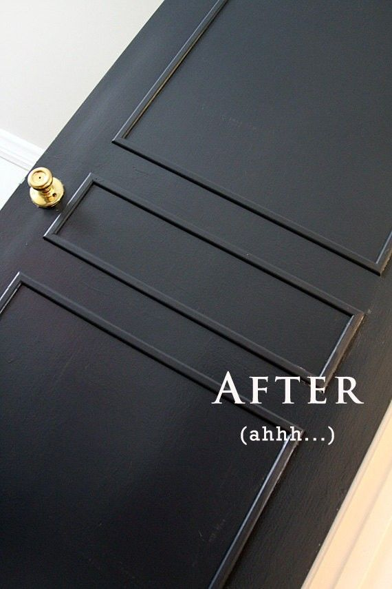 "Remember the faux-door moulding we created in our New York apartment? We used used a combination of crown moulding and miter cuts to add a little architecture. (You can see the ""after"" behind Hudson in this photo, and the ""before"" here.) R and R Designworks, on Etsy, has created an inexpensive DIY kit that seems …"