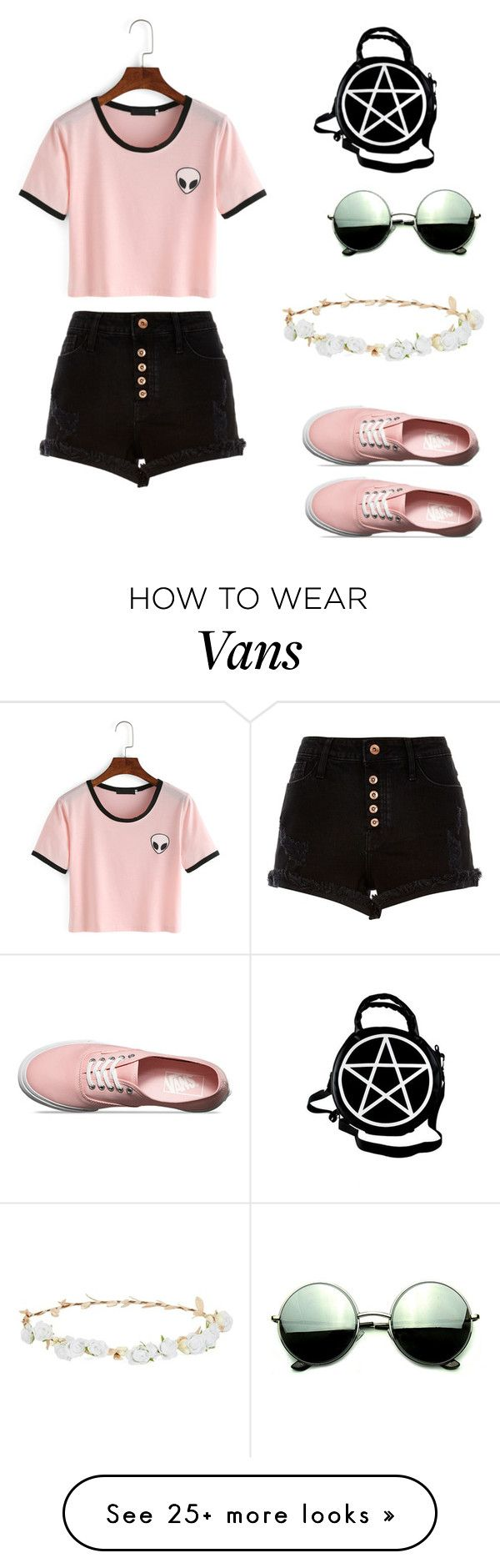 """""""Tumblr girl"""" by lilybluemc on Polyvore featuring River Island, Vans, Kill Star, Revo and Robert Rose"""