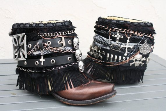 Custom boots.  Boho. Cowboy boots. Gypsy boots by InKaBoots, $1.00                                                                                                                                                                                 More