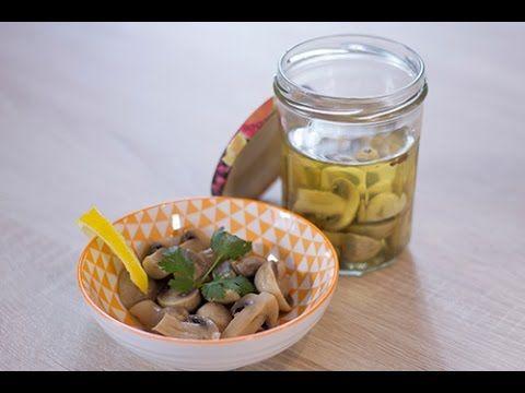 Recette de Conserves de champignons au vinaigre