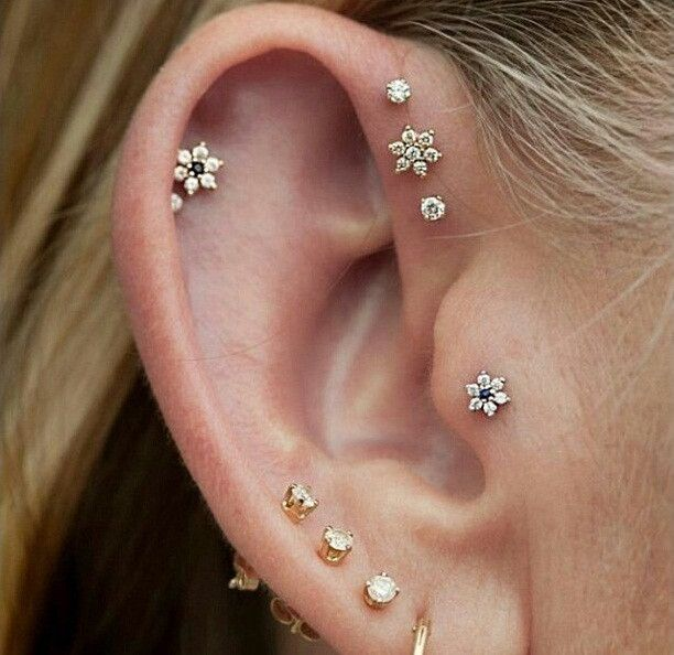 Cool Ear Piercings to Try This Summer Cartilage Piercing Jewelry Available at MyBodiArt