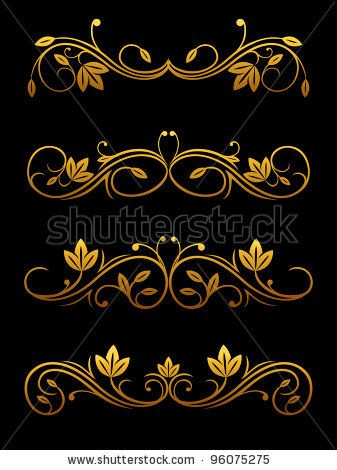 Stock Images similar to ID 115484383 - vintage ornaments and dividers ...