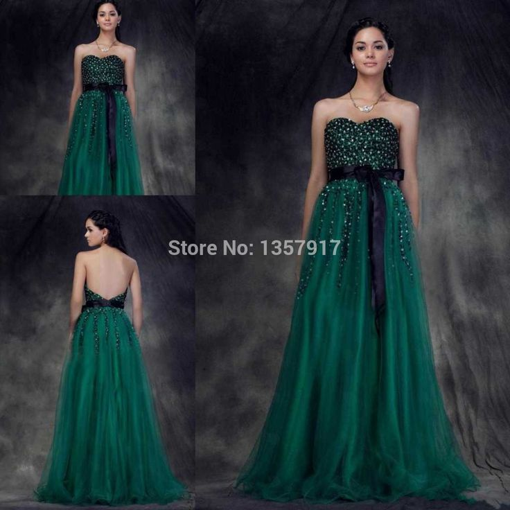 Изумруд зеленый сердечком вышивка бисером с низким вырезом на спине длинная театрализованное пром платье женщины платье с поясом QQ29