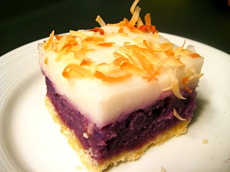 PURPLE SWEET POATOES CHEESECAKE | sweet okinawan sweet potato haupia pie