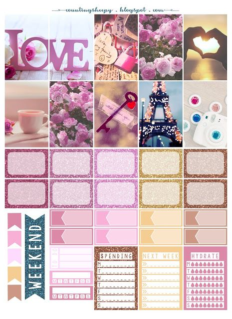 Counting Sheepy: Free Planner Printables - Love Love Love