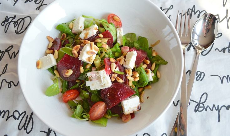roasted beet pickled red onion salad beet onion feta yummm see more ...