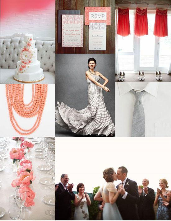 Coral, Watermelon & Grey - for a fresh, summery look to your wedding