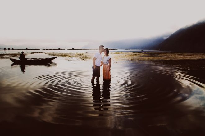 Lake Kintamani by Apel Photography for Bali Prewedding Photoshoot