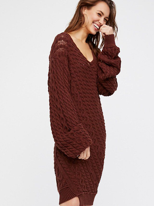 Twisted Reality Sweater Mini Dress from Free People!
