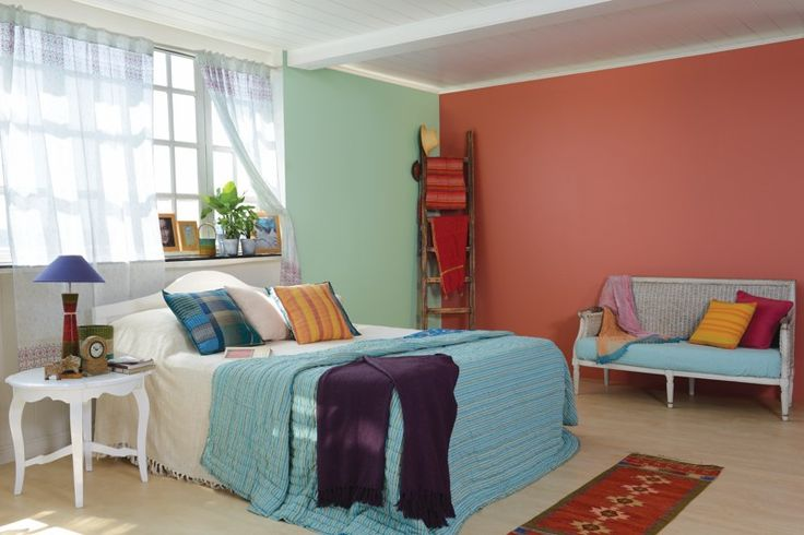 meets strong in her palette for bedroom wall colours by asian paints