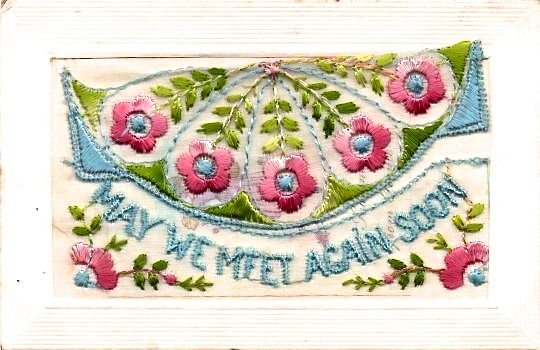 Embroidered Cards from WW1
