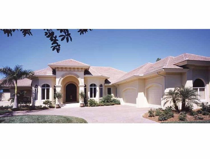 Mediterranean House Plan With 4302 Square Feet And 3