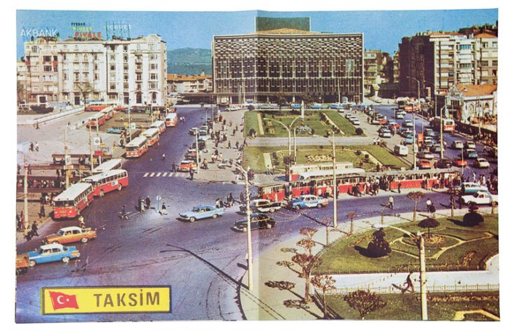 #emahomagazine  Taksim Calling is an unconventional poster book that contrasts spontaneously taken iPhone pictures of the Gezi protests by Frederic Lezmi with idealized and oversized vintage postcard-images from Taksim Square.