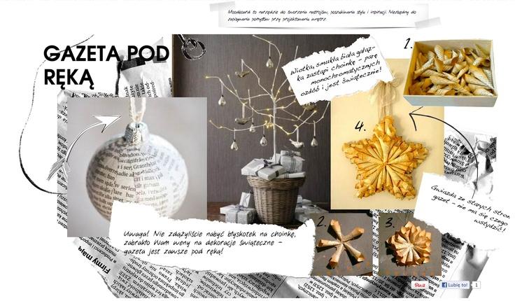 dekoracje świąteczne można wykonać choćby z gaze†y, ta zawsze jest pod ręką!