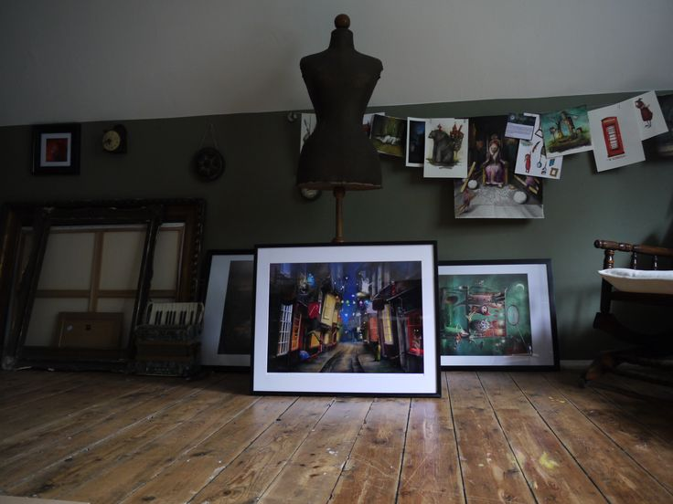 matyldakonecka.com one of my framed prints waiting for its new owner