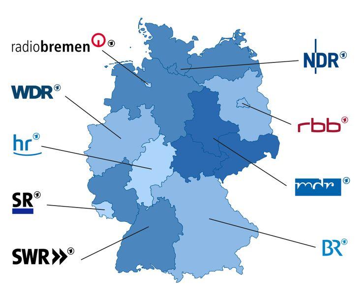 ARD Sender-Landkarte
