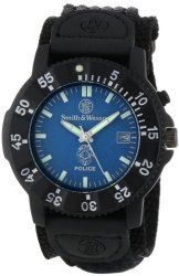 Smith & Wesson SWW-455P Police Watch with Blue Dial and Black Nylon Strap