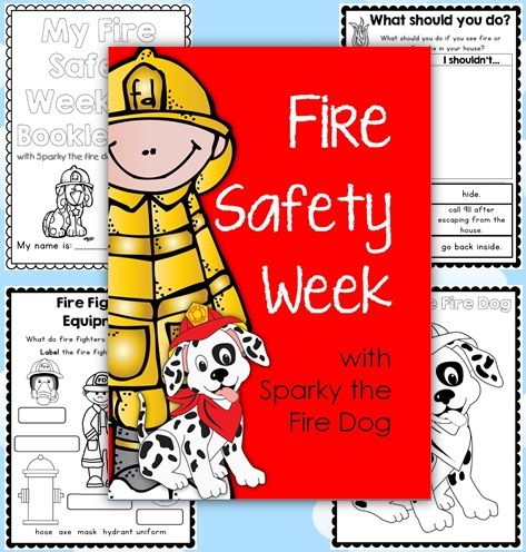 Fire Safety Week with Sparky the Fire Dog - Printables for Grades 1-2. 50% off for the first 48 hours.$