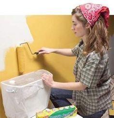 Au lieu d'acheter du ruban de masquage, utilisez du film étirable pour les travaux de peinture.