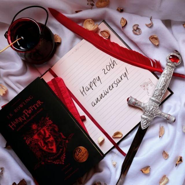 Happy 20th anniversary, Harry Potter!.  books #writer #reader #booklr #bookish #reading #aesthetic #bookworm #fiction #writing #bookshelf #booklover #bookgram #instabook #bookaddict #amreading #bookphotography #booklover #geek #bookstagramfeature #bookstagram #harrypotter20 #potterhea...