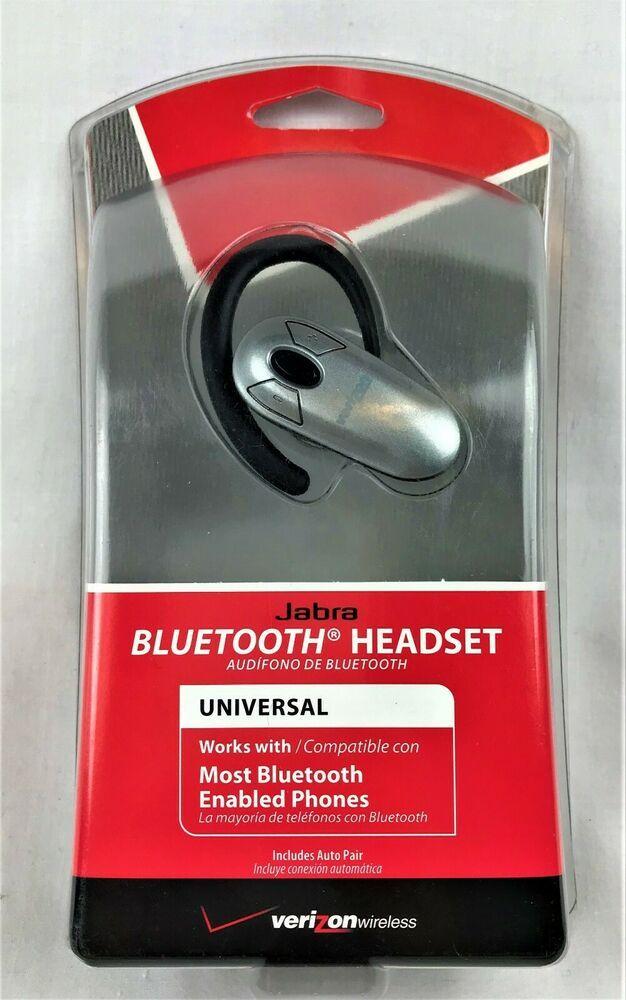 Verizon Jabra Universal Bluetooth Headset Vbt185z Brand New Jabra Bluetooth Headset