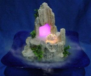 Ms S1m2 Mountain Volcano Waterfalls Mist Fountain W