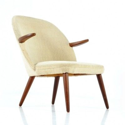 Danish Shell Lounge Chair by Kurt Olsen for Glostrup Furniture
