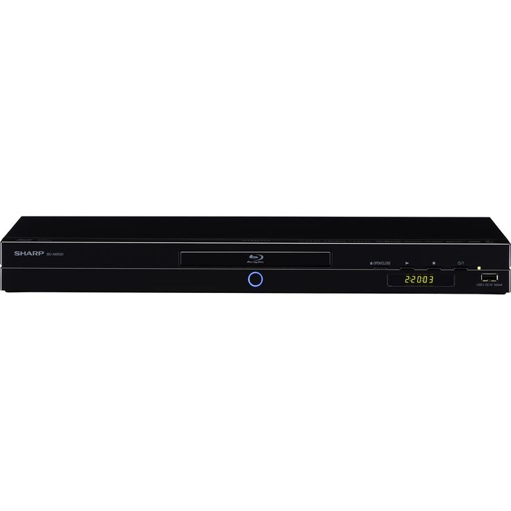 Sharp BD-AMS20 3D Smart Blu-ray Player perfect for enjoying Full HD 1080p Blu-ray 3D™ video, also providing the added option of wireless streaming entertainment.