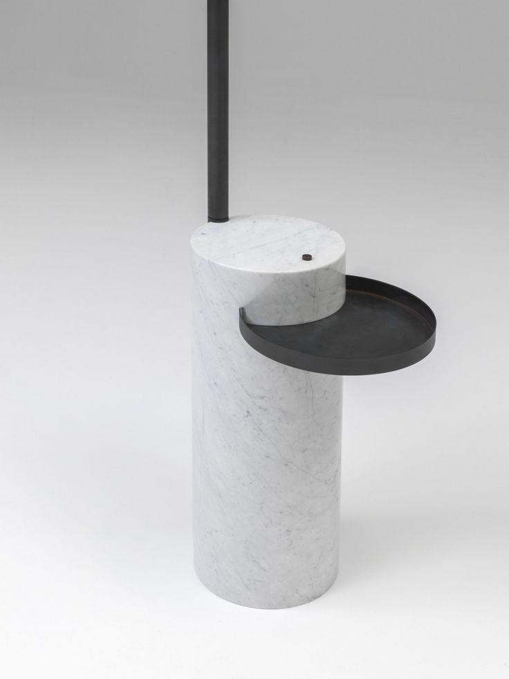 LAMPADA DA LETTURA A LED IN OTTONE E MARMO KLEA | LAMPADA DA LETTURA BY NAHOOR | DESIGN WILLIAM PIANTA
