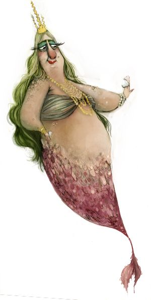 Even tho this isn't the sexy/pretty traditional artwork people usually create of mermaids this is awesome!