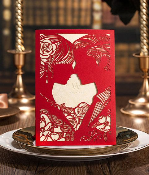 100 bride and groom red wedding invitation cards 100 matching rsvp cards ship worldwide days set of 100