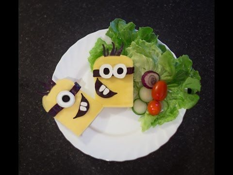 Minions sandwich ,how to make minions lunch box for kids,minion food ideas - YouTube