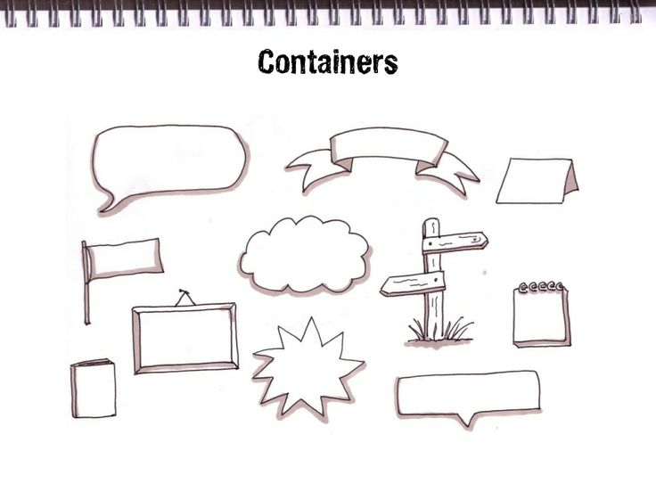 Getting Started With Sketchnoting, containers