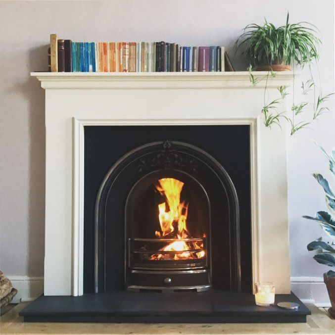 Flat is definitely starting to feel more cosy #books #plants #fire #openfire #autumn #strathbungo