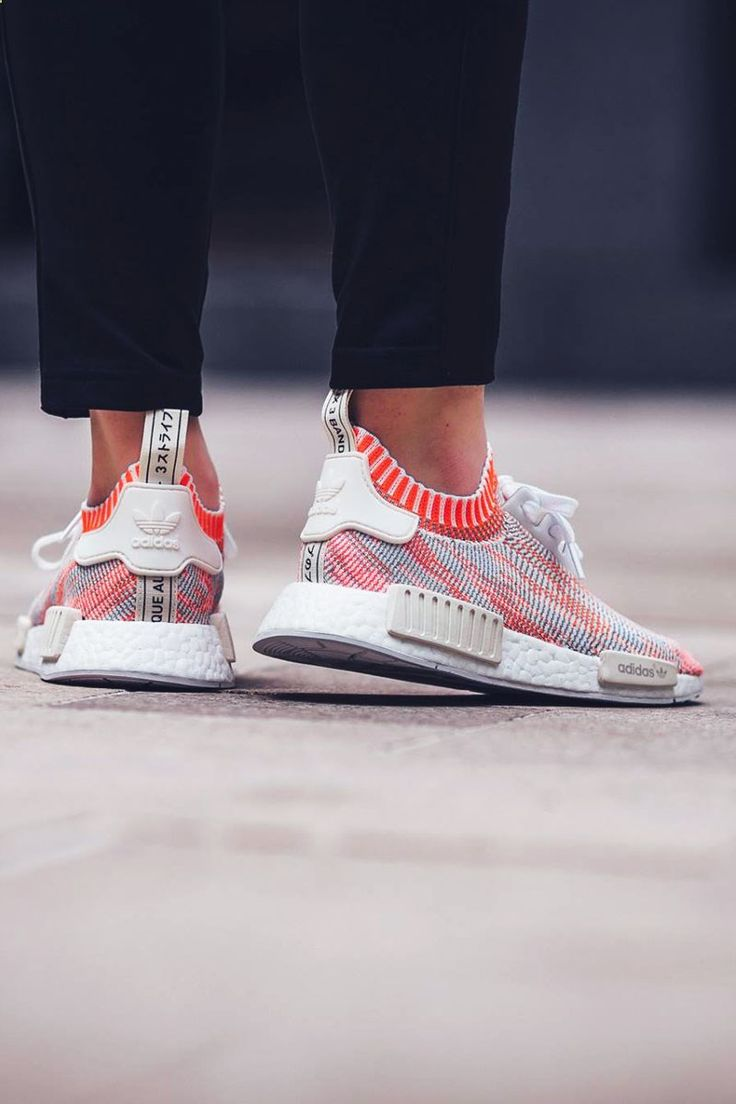 ADIDAS NMD R1 PK White Solar Red