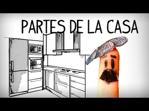 Las partes de la casa en español. Vocabulario español