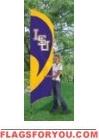 LSU Tigers Tall Team Flag 8.5' x 2.5'