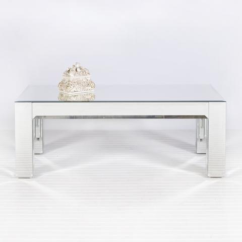 Beveled Mirror Coffee Table.: Mirror Coff Tables, Rectangular Coffee, Mirror Tables, Mirrored Coffee Tables, Mirror Coffee Tables, Camilla Mirror, World Away, Mirror Rectangular, Living Rooms Tables