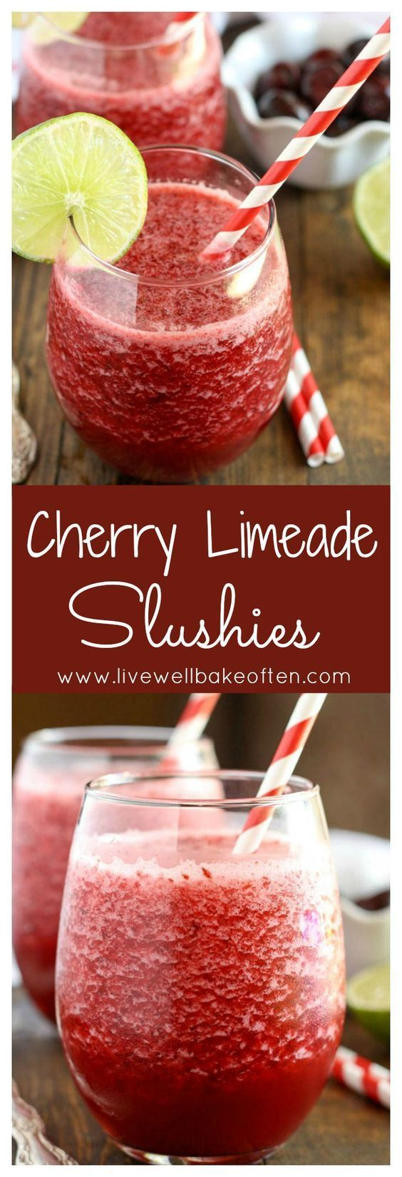 These easy cherry limeade slushies are easy to make and perfect for summer!