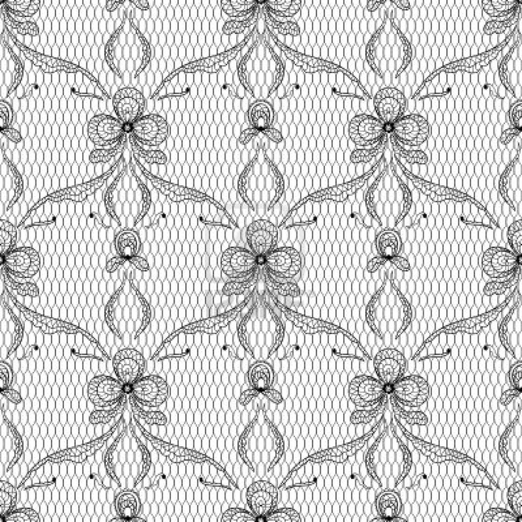 Old lace background, ornamental flowers texture  Stock Photo