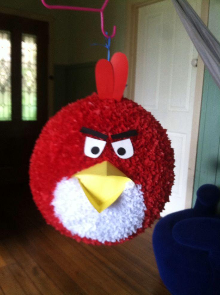Angry bird piñata I made for Charlie's 9th birthday