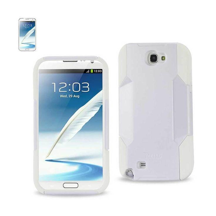 Reiko Silicon Case And Plastic Cover Samsung Galaxy Note II/ N7100 White