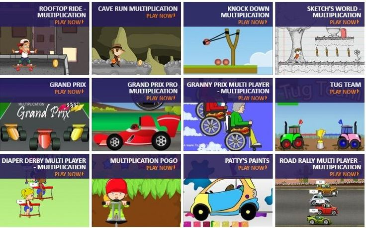 Cool free online multiplication games to help students learn the multiplication facts.  Practice the times tables while having fun at Multiplication.com.