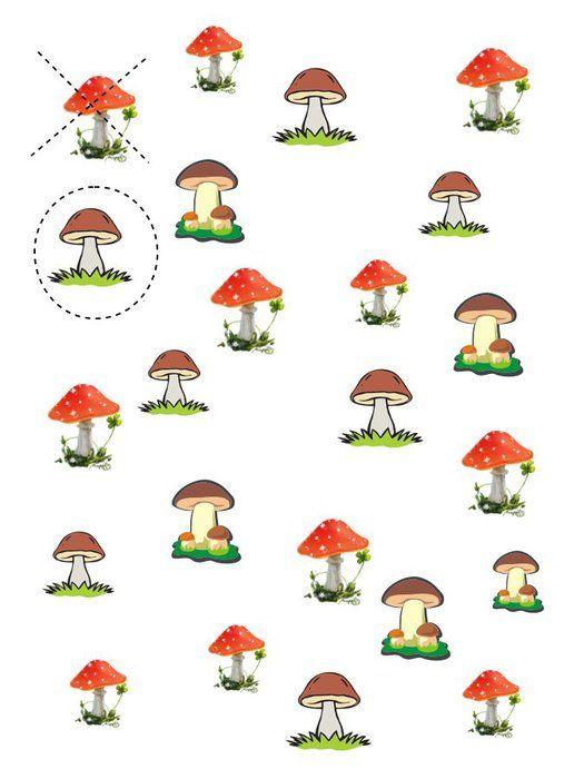 задание грибы картинки что