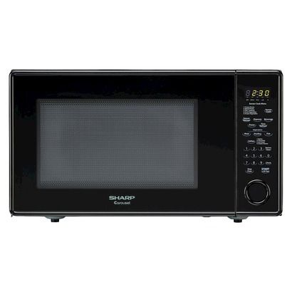 Sharp Carousel 1.8 Cu. Ft. 1100W Countertop Microwave Oven - Black  I like the child lock features
